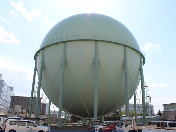 City gas spherical gas holder