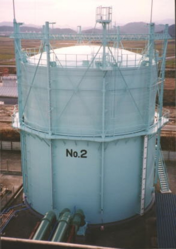 Gas holder (wet-seal holder)