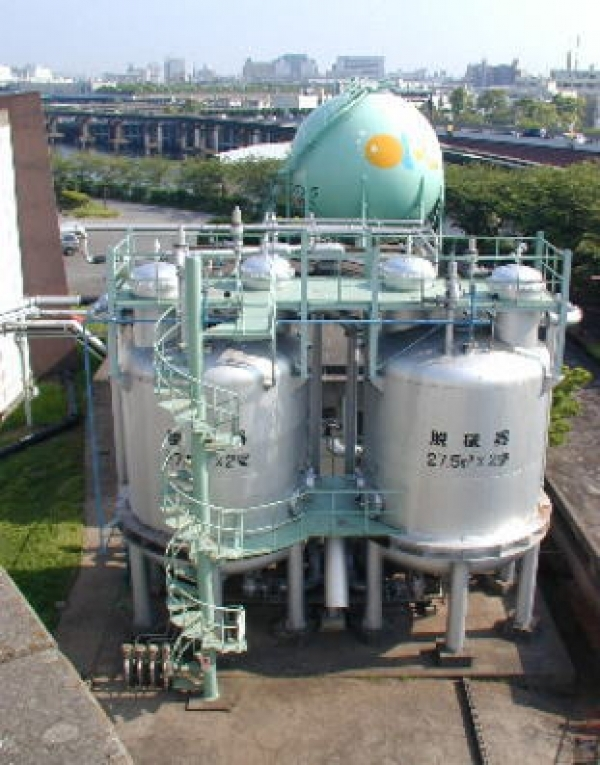 Sludge digestion gas system
