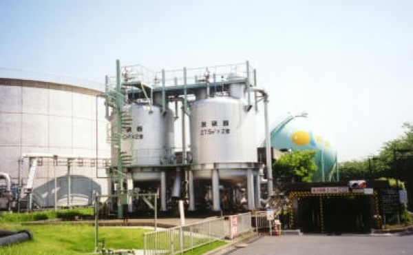 Gas processing facility for waste