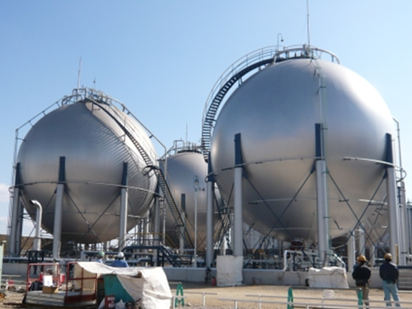Spherical tank (propylene) ×4